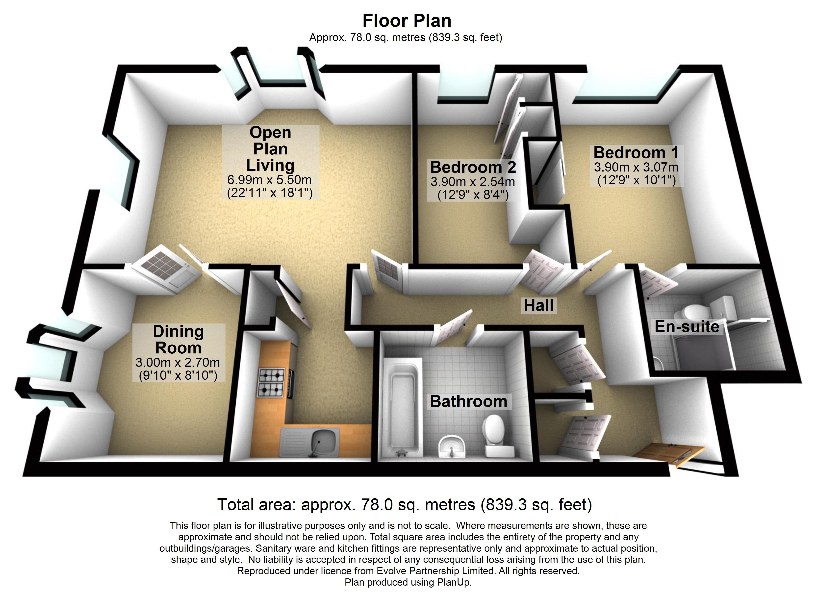 20 Compton Court Floorplan