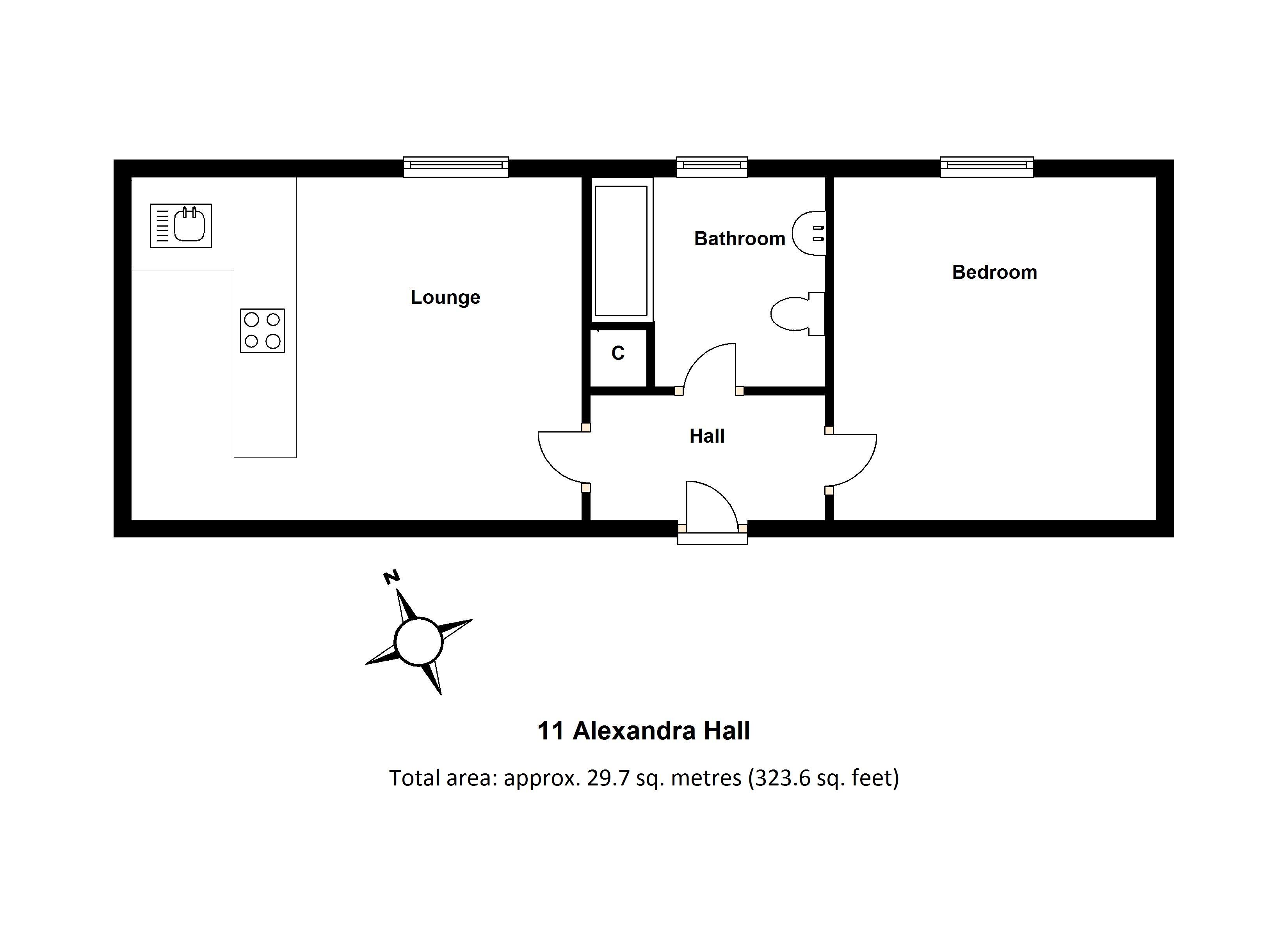 11 Alexander Hall Floorplan