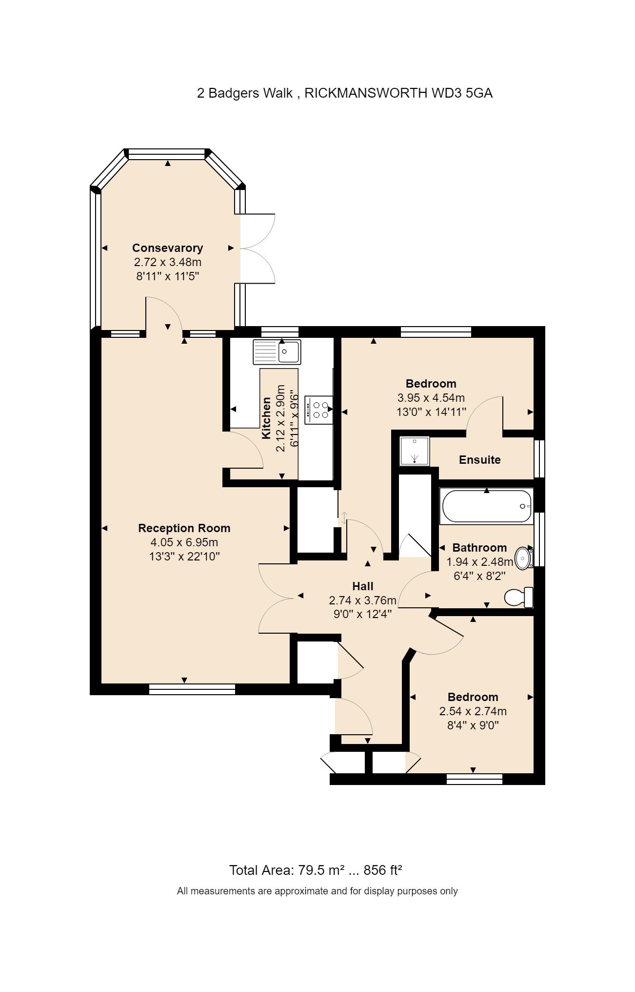 2 Badgers Walk Floorplan