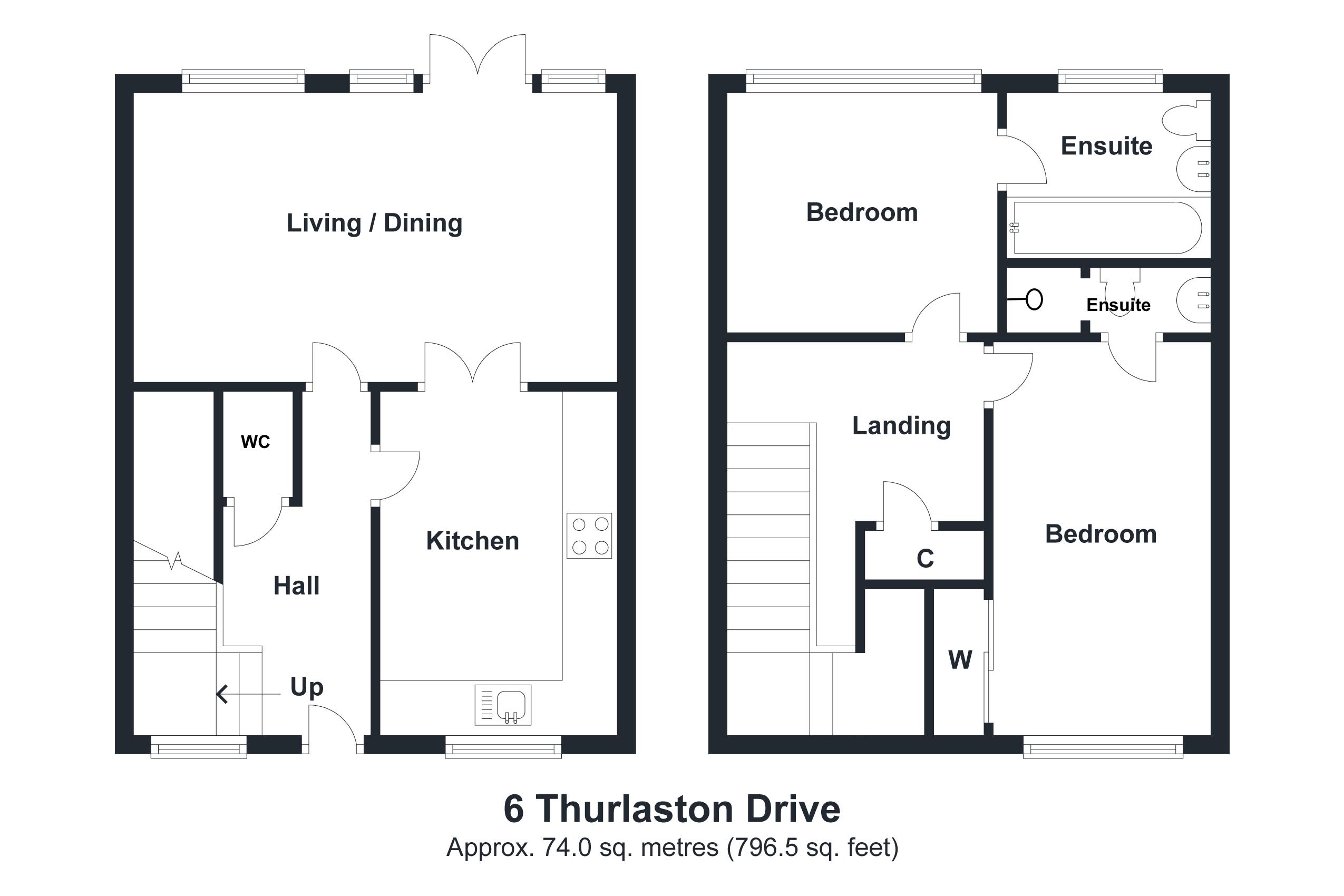6 Thurlaston Drive Floorplan