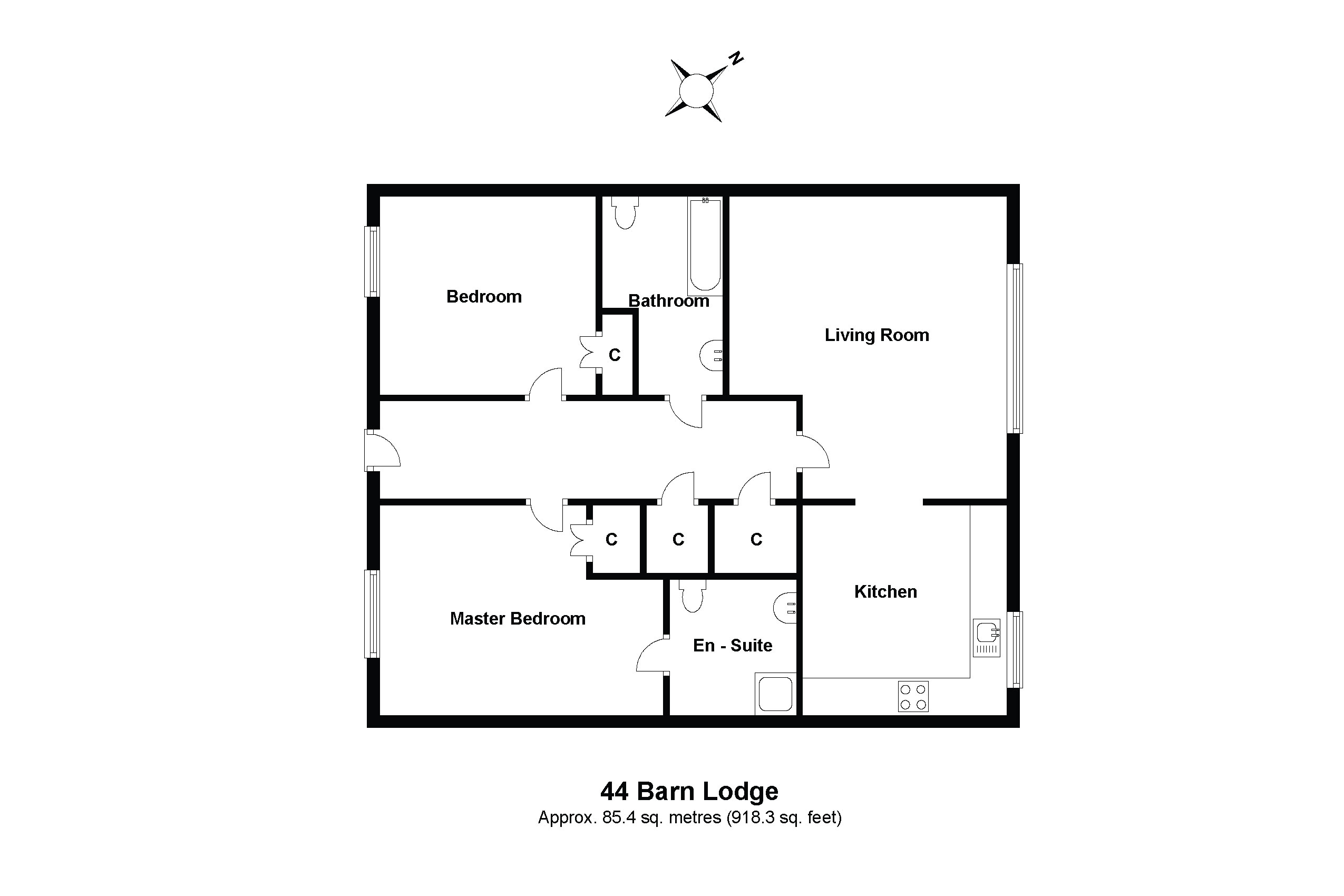 44 Barn Lodge Floorplan