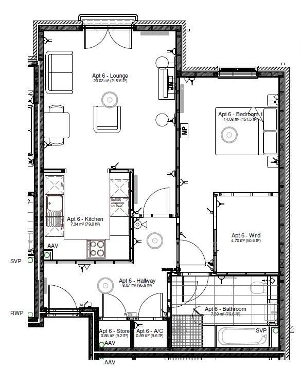 New Build, Apartment 6 Arun House Floorplan