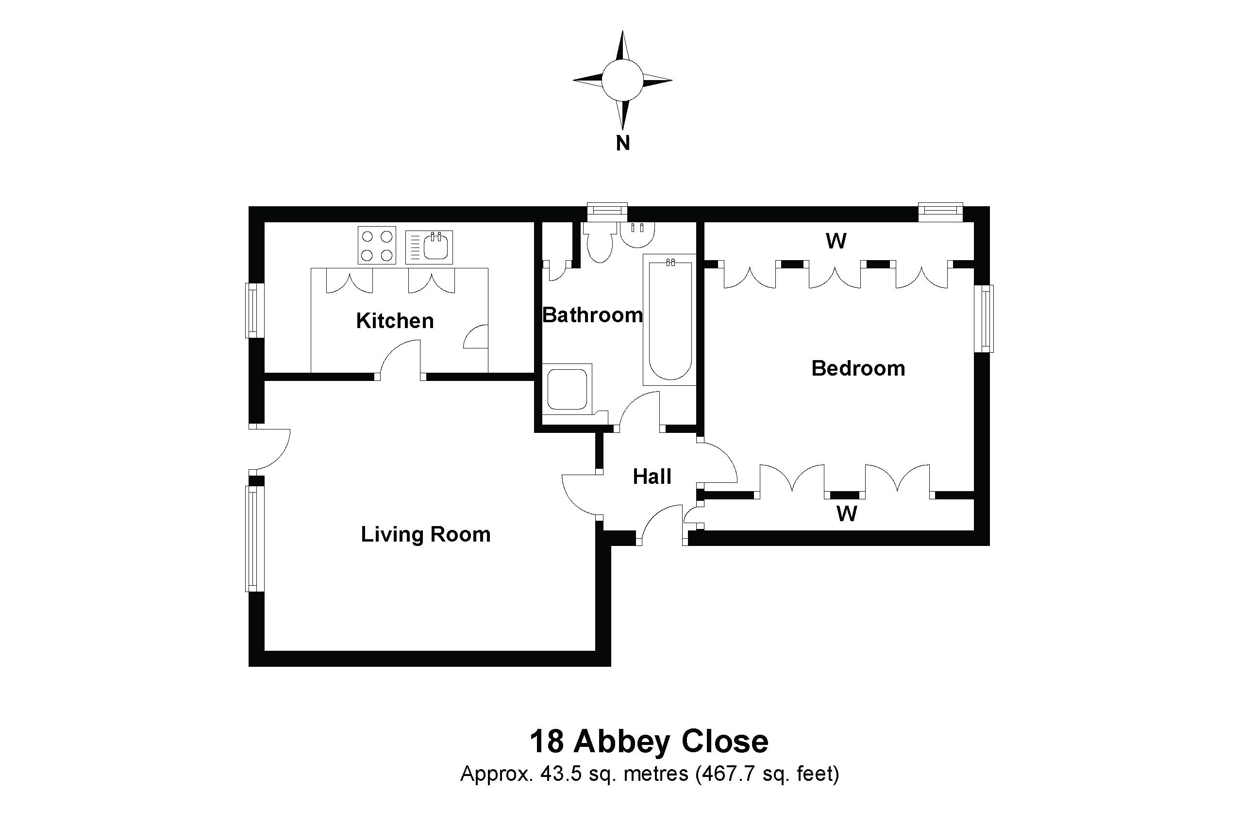 18 Abbey Close Floorplan