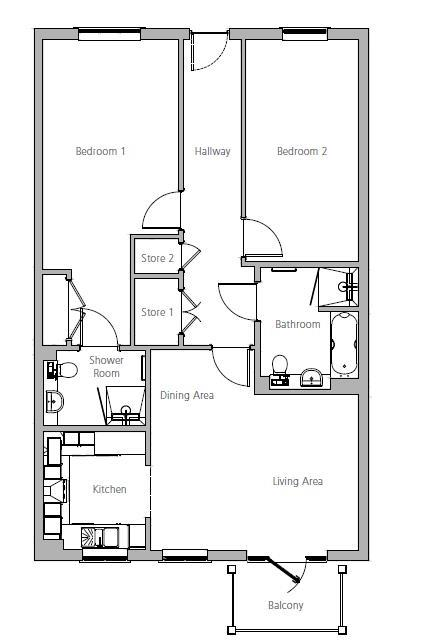 New Build, Apartment 31 Debden House Floorplan