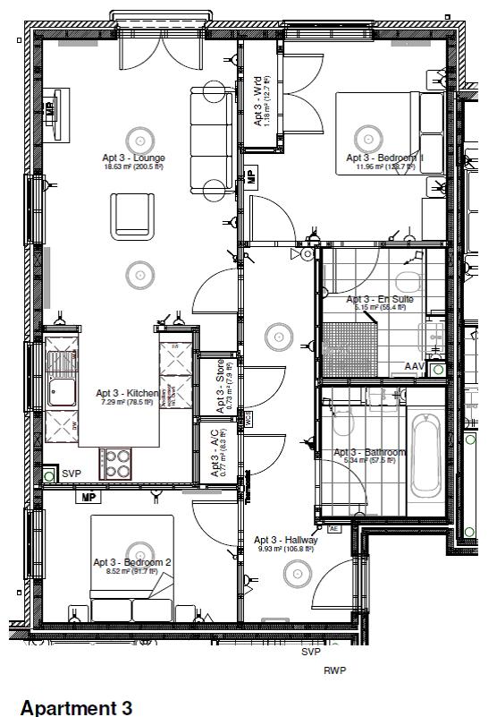 New Build, Apartment 3 Arun House Floorplan