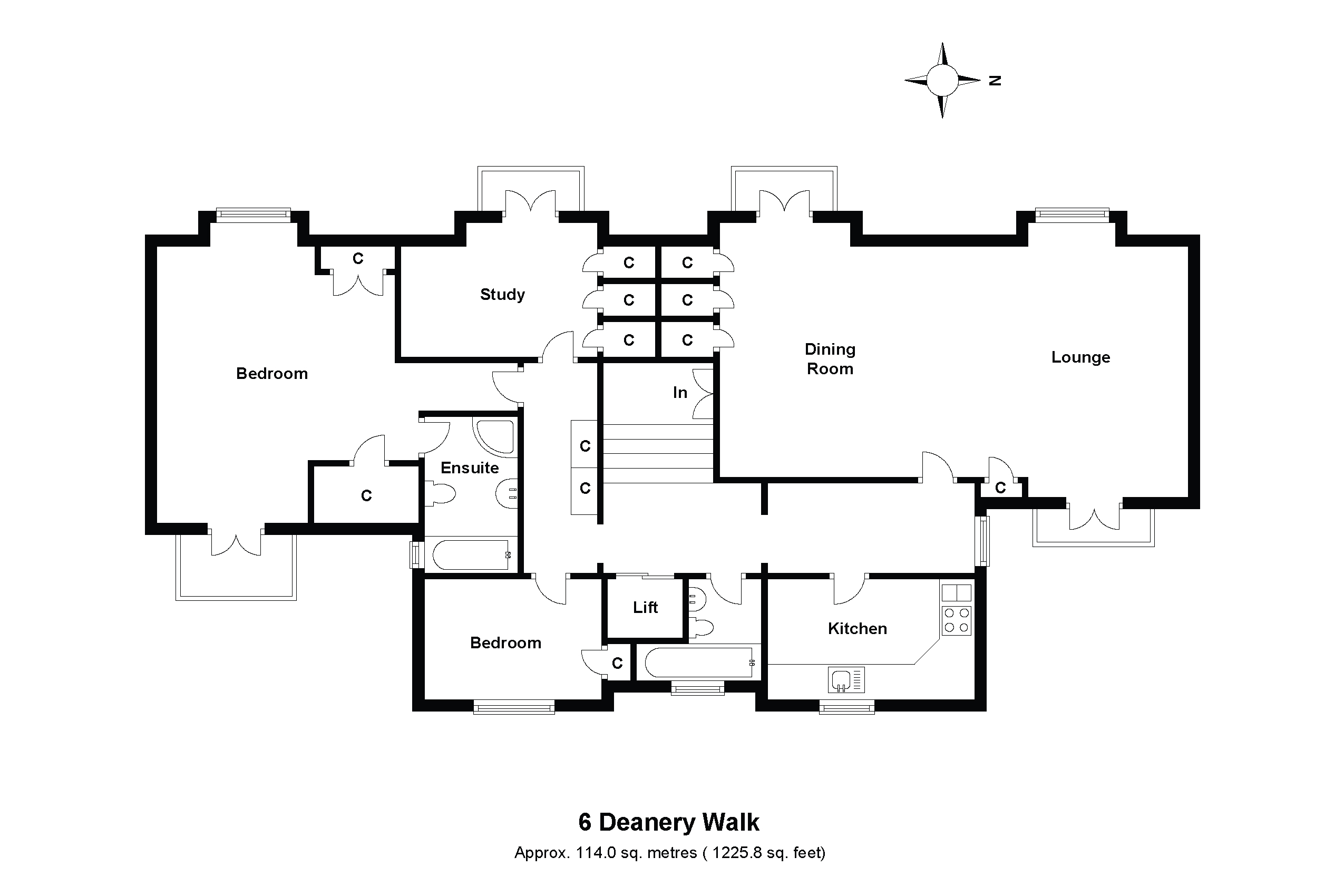 The Penthouse, 5 & 6 Deanery Walk Floorplan