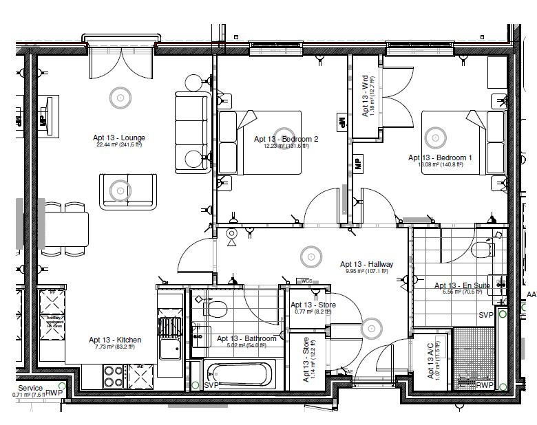 New Build, Apartment 14 Arun House Floorplan
