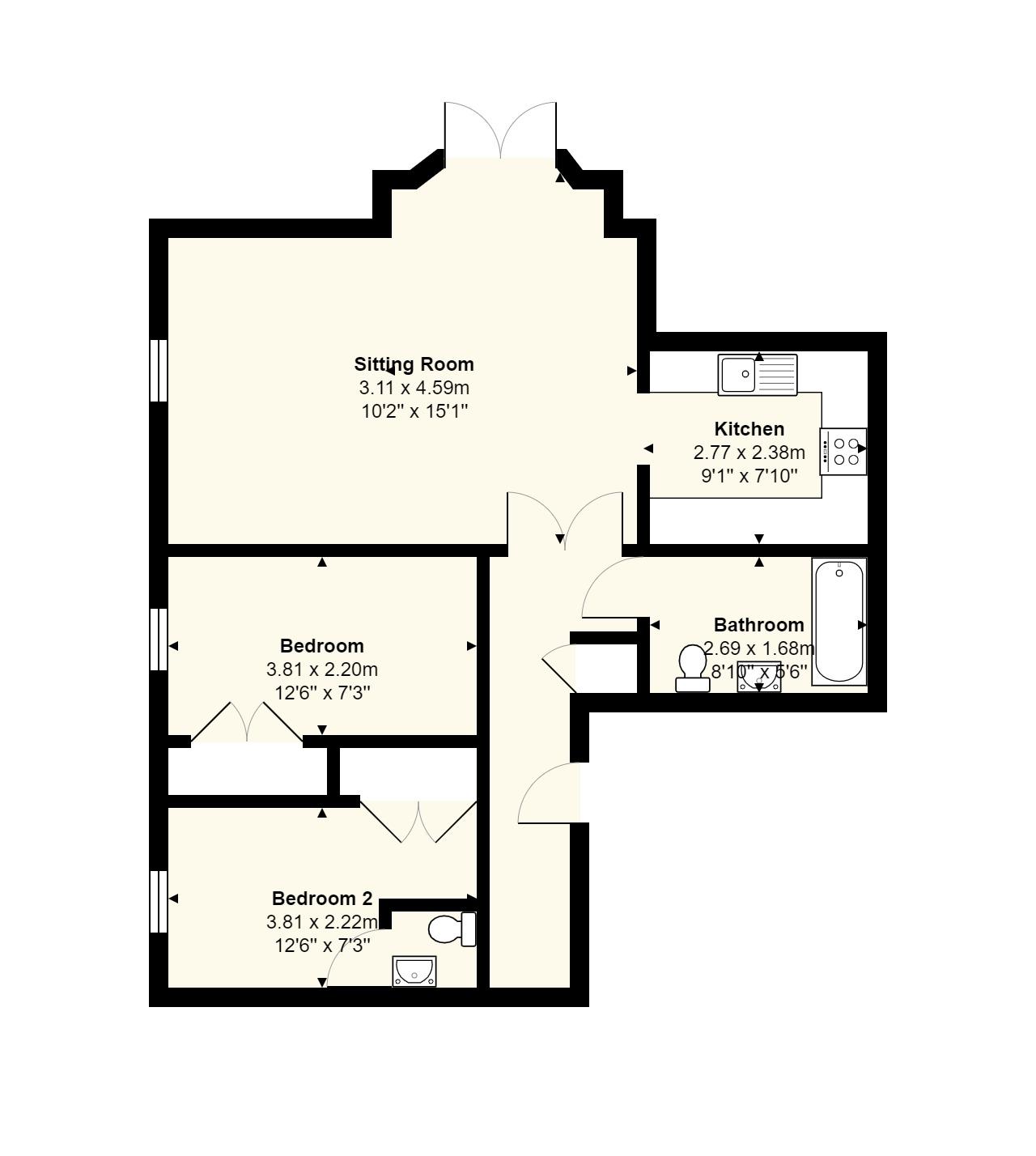 7 Middleway House Floorplan