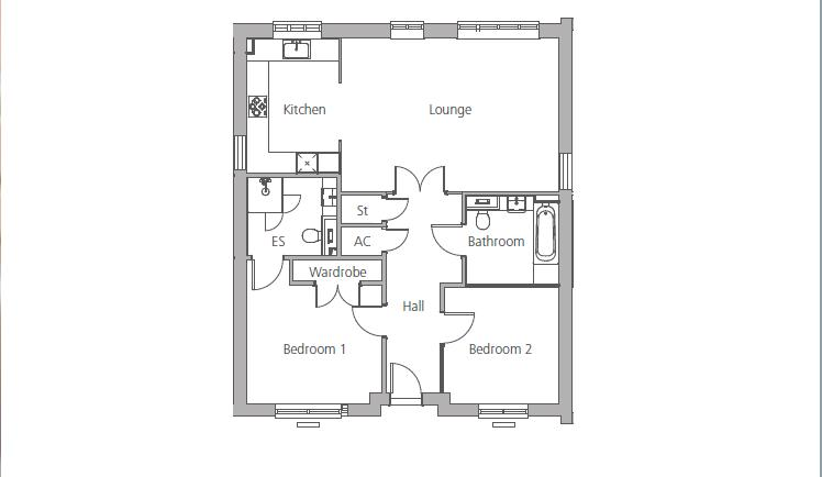 New Build, 40 Mayford Grange Floorplan