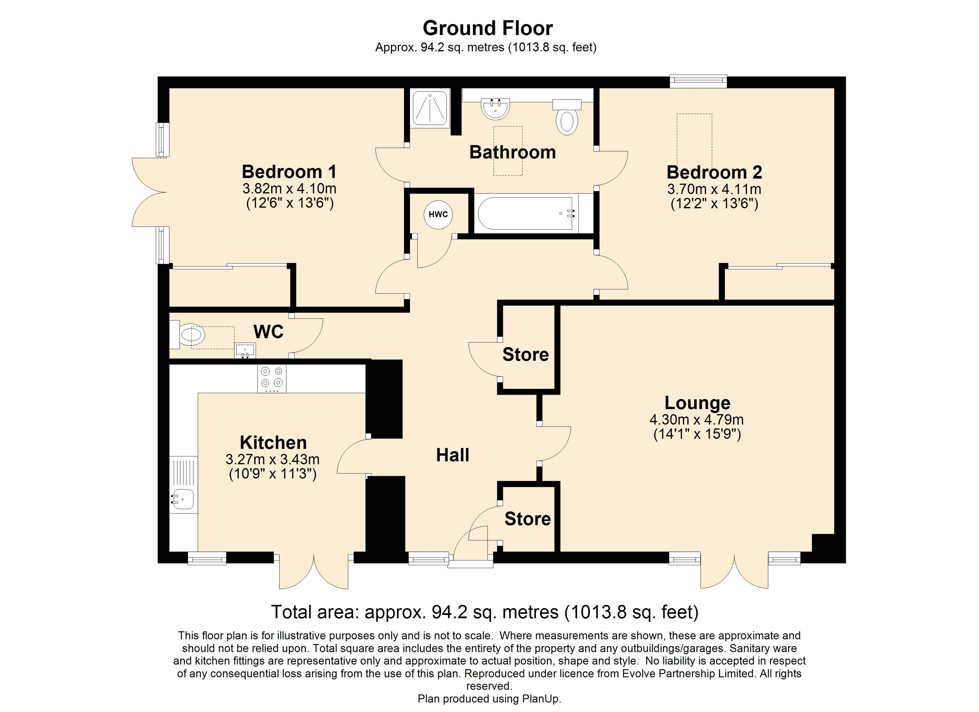 1 Stable Mews, The Rose Floorplan