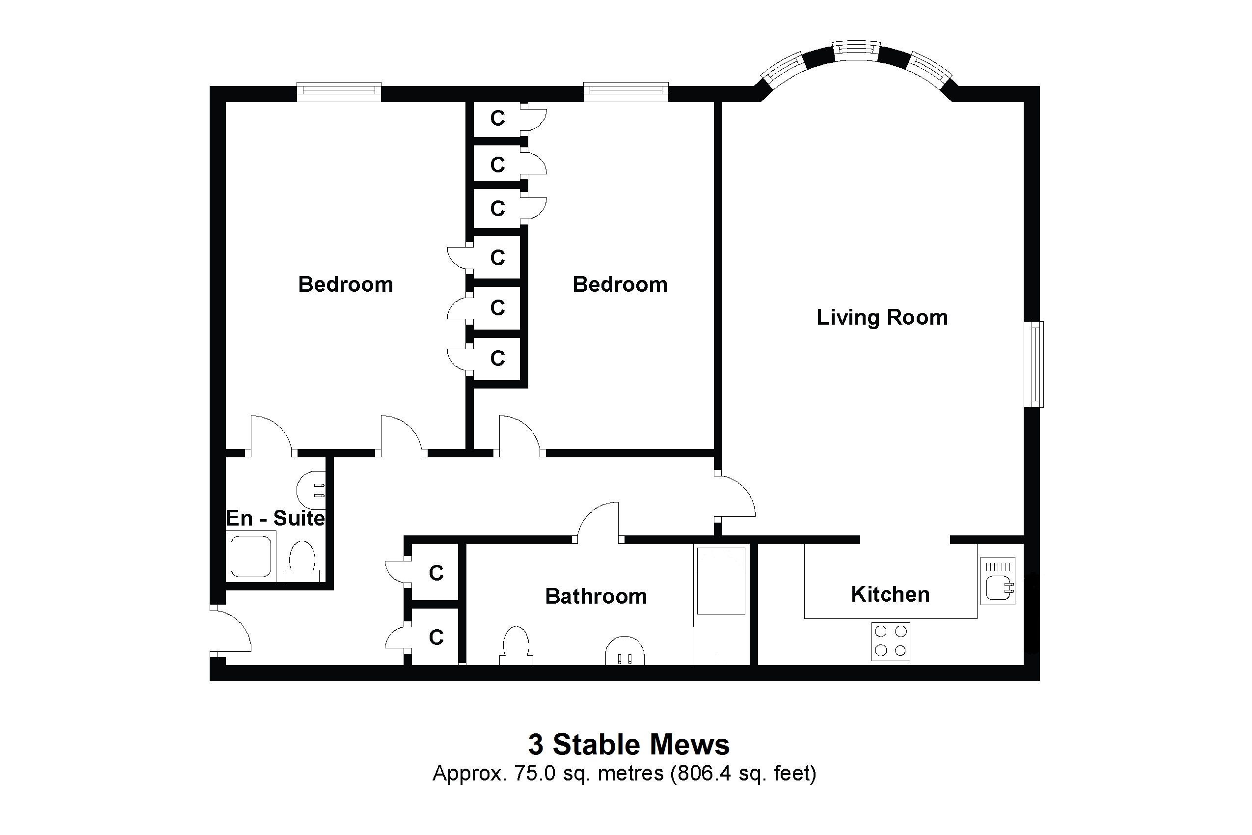 3 Stable Mews Floorplan