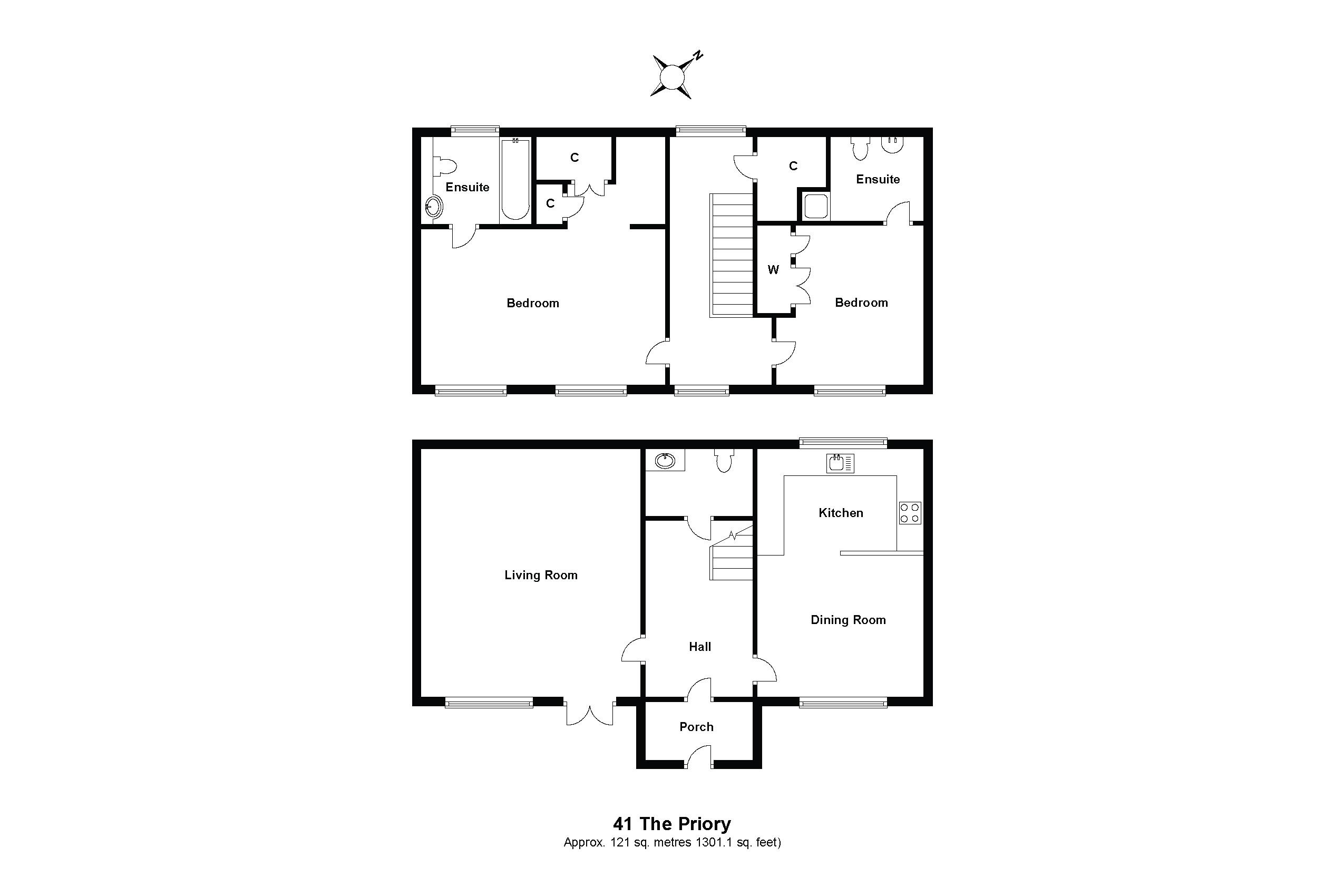 41 The Priory Floorplan