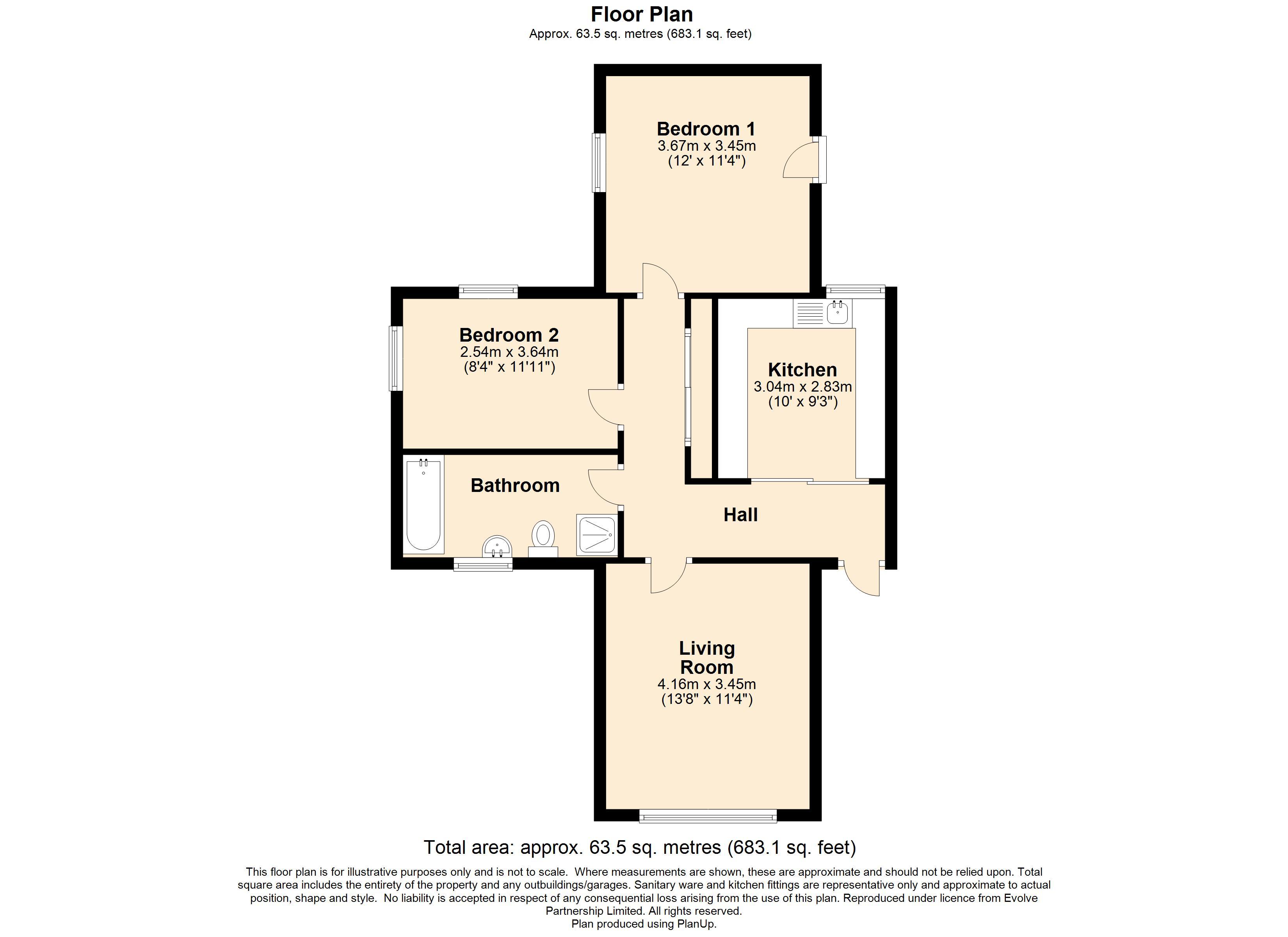 1 Willow Court Floorplan