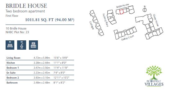 Plot 23, Flat 10 Bridle House Floorplan